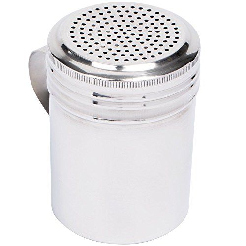 (Set of 12) 10 Oz Stainless Steel Dredge Shaker with Handle, Spice Dispenser for Cooking/Baking by Tezzorio by Tezzorio (Image #1)