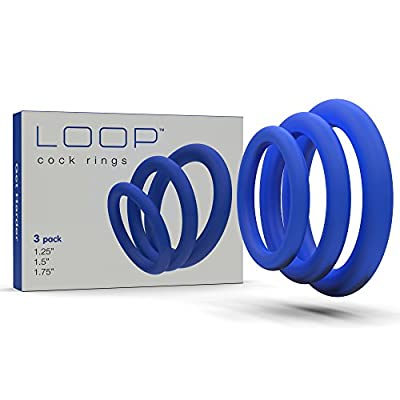 Lynk Pleasure Products Super Soft Erection Enhancing Cock Ring 3 Pack - 100% Medical Grade Pure Silicone Penis Ring Set for Extra Stimulation for Him - Bigger, Harder, Longer Penis