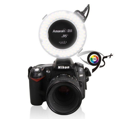 LED macro Ring flash pour appareils photo Nikon Aputure Amaran Halo Ahl-h100/Flash annulaire /à LED Lampe CRI 95/
