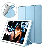 DTTO Case for iPad Mini 4,(Not Compatible with Mini 5th Generation 2019) Ultra Slim Lightweight Smart Case Trifold Stand with Flexible Soft TPU Back Cover for iPad mini4[Auto Sleep/Wake], Sky Blue