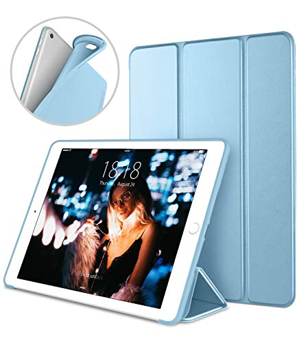 iPad Case for iPad Mini 4, DTTO [Anti-Scratch] Ultra Slim Lightweight [Auto Sleep/Wake] Smart Case Trifold Cover Stand with Flexible Soft TPU Back Cover for iPad mini4, Sky Blue