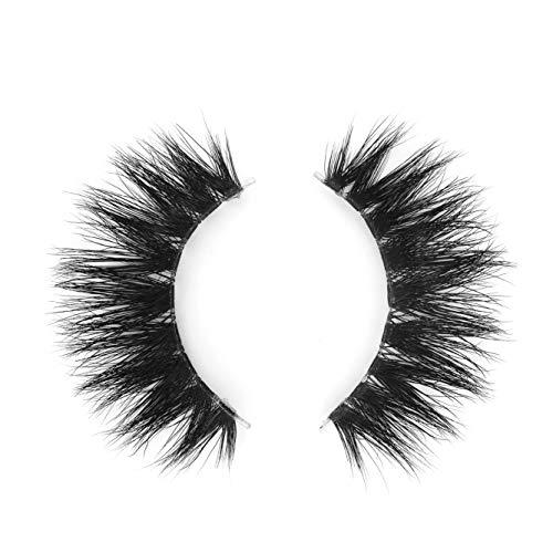 BEPHOLAN Mink Lashes | 100% Siberian Mink Fur False Eyelashes | Dramatic Look | 3D Layered Effect | 100% Handmade & Cruelty-Free | Reusable | XMZ10