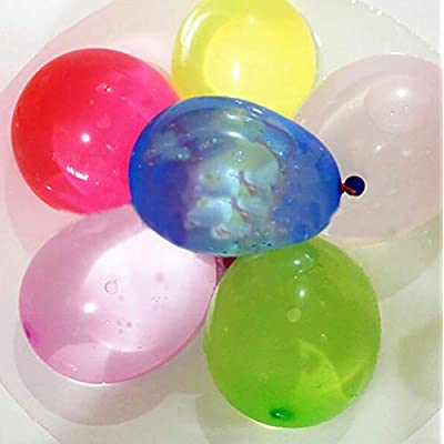 The most economical option .100 Water balloon quick fill self sealing+ 500 refills, for a total of 600. Instant material is recyclable.: Toys & Games