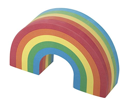 Rainbow Post Its, 250 Colourful Fun Stick Notes, Memo Notes - Luckies of London -