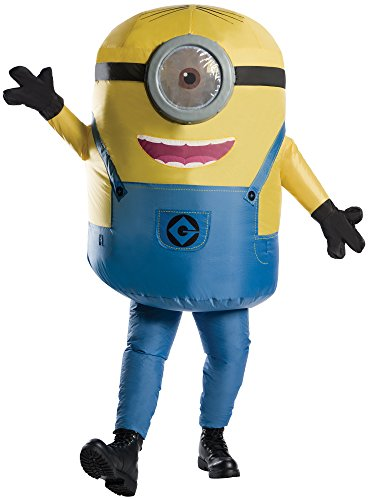 Rubie's Men's Minions Inflatable Minion Stuart Costume, Yellow, Standard for $<!--$48.99-->