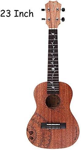 ギター ギグバッグ楽器について初心者23/26インチの標準C / Tタイプマホガニーウッドマットウクレレ 初心者 入門 (Color : As shown, Size : 26inch)
