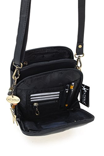 Noir Catwalk cuir Collection signé en Sac type