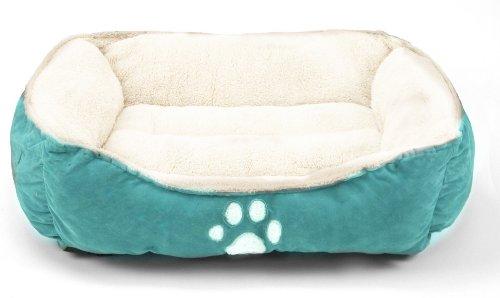 41MCtKdeAHL - Sofantex Pet Line Medium Size Pet Beds Paw Print Blue