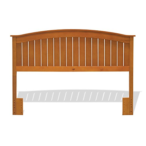 Finley Wooden Headboard Panel with Curved Top Rail Design, Maple Finish, Full / - Bed Headboard Panel