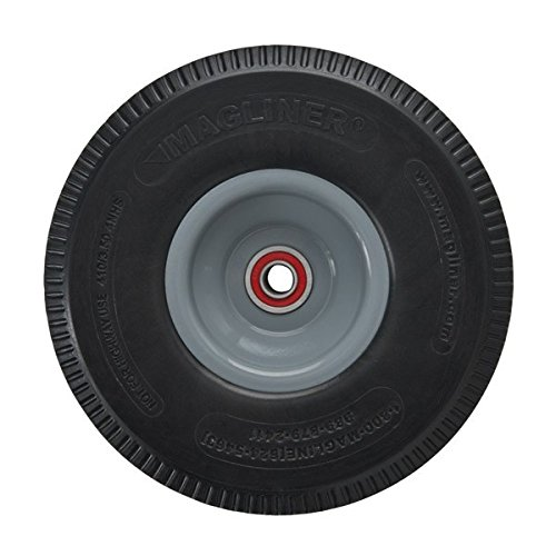 Magline 131010 10'' Diameter Microcellular Foam Wheel with Red Sealed Semi Precision Ball Bearings