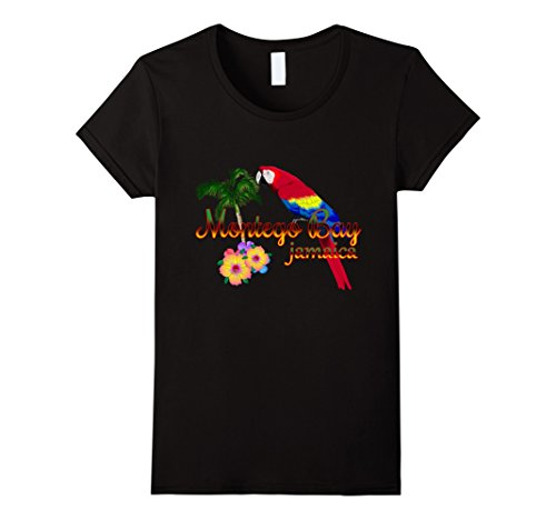 Montego Bay (Womens Montego Bay Jamaica Tropical Destination Beach T-Shirt Medium Black)