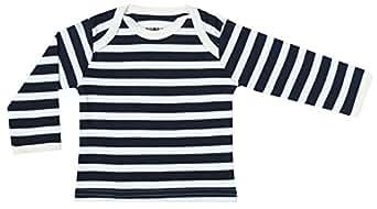 Organic Cotton Baby Long Sleeve T-Shirt GOTS Certified (Black Natural, 0-3m)