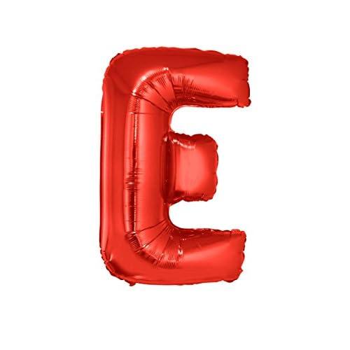 Générique Ballon aluminium géant lettre E rouge 102 cm