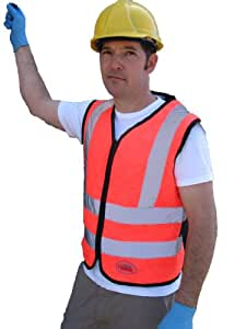Cool Medics M1863-OR-SM Orange Contractors Cooling Vest With Reflective Stripes, Small