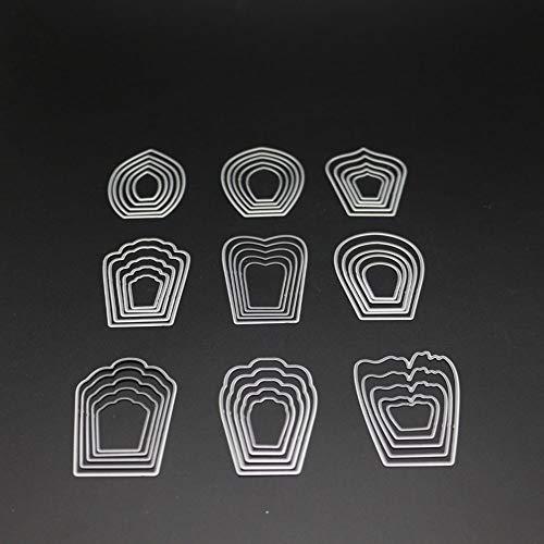 Flower Petal Metal Cutting Dies Scrapbooking Craft Die Cuts Stamp Embossing Paper Card Make Stencil 10.7x15.4cm ()