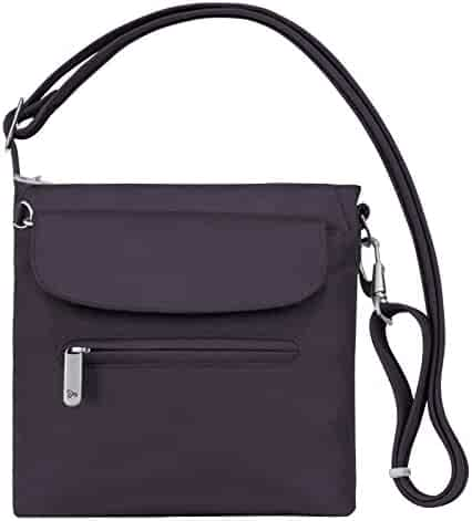 Travelon Women's Anti-Theft Classic Mini Shoulder Bag Sling Tote, Purple, One Size