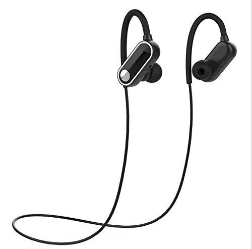 Bluetoothイヤホン スポーツヘッドセット Bluetooth4.0 ワイヤレス イヤホン ステレオ マグネット搭載 内蔵マイク ノイズキャンセリング ヘッドセット 防水/防塵/人間工学に基づいた設計 (ブラック)