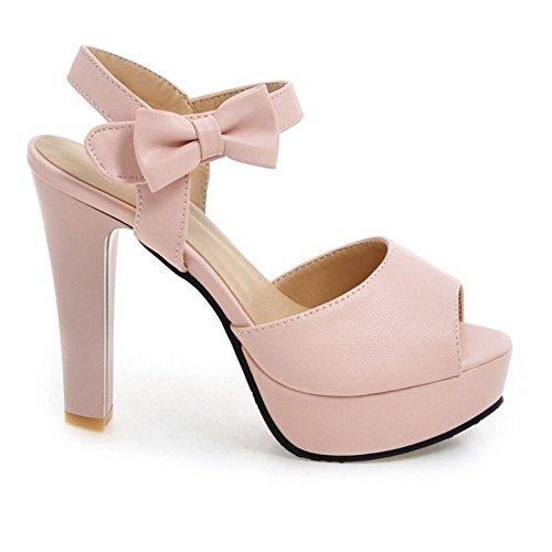 Coolcept Women High Heel Sandals Open Back Pink 0t5DD4G