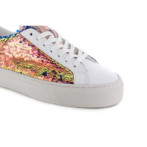 Donna Date Paillettes Coral Sneaker Vertigo wvwqY6S