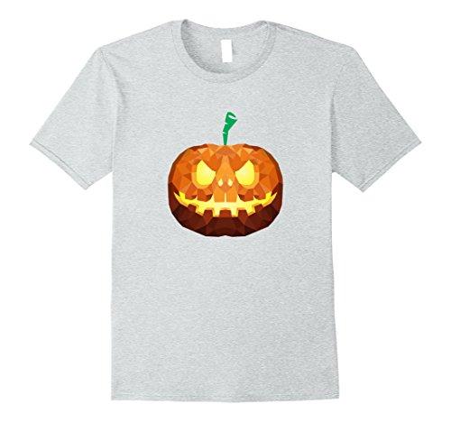 Geo Halloween Costume (Mens Halloween Pumpkin Face | Costume T-Shirt for Men,Woman,Kids Medium Heather Grey)