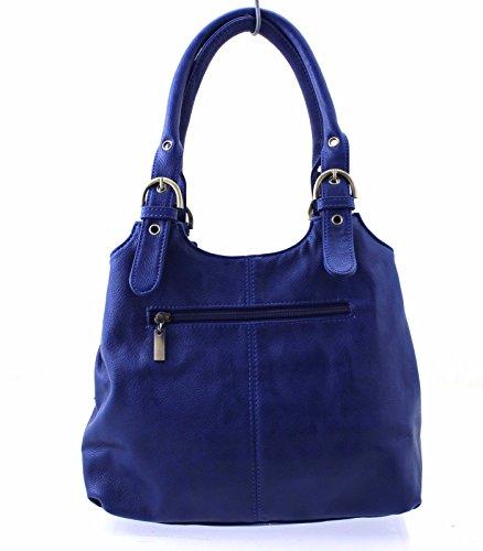 Marino amp; Bolso Mano Mujer Azul Son De Long HBdwPq0q