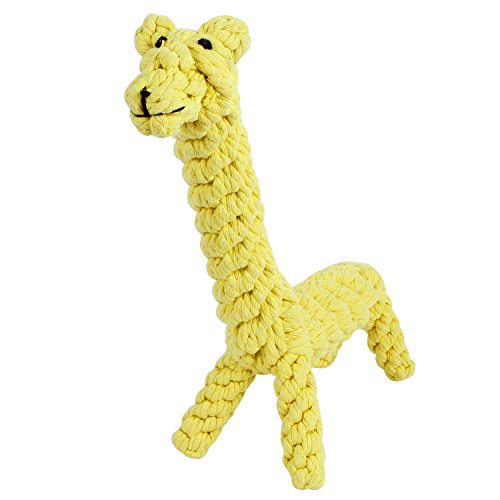 GoCooper Giraffe Puppy Chew Dog Toys Cotton Dental Teaser Rope Teeth Cleanning Toy (Large)