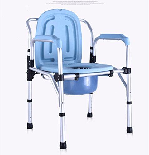 Lpword Foldable Light Toilet Seat Adjustable Commode Seat