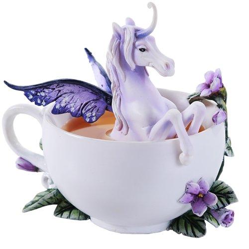 (Pacific Giftware Amy Brown Enchanted Unicorn Tea Cup Fantasy Art Figurine Collectible 5.75)