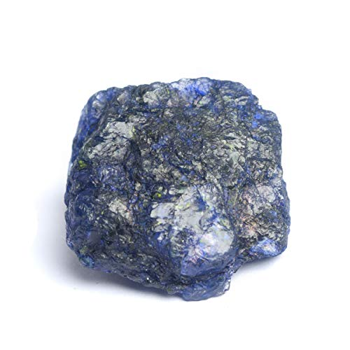 - Gemhub Healing Crystal Blue Sapphire 108.00 Ct. Natural Untreated Rough Certified Sapphire Stone for Jewelry