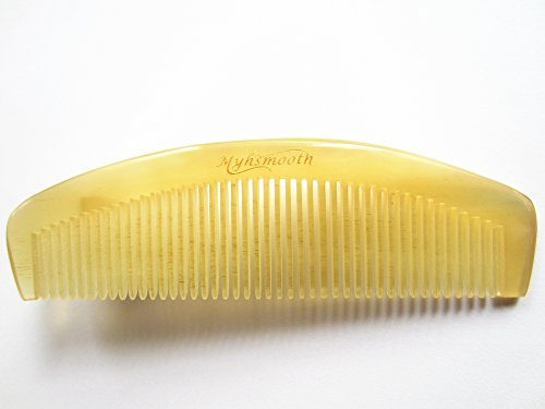 Myhsmooth Sh-by-nt 100% Handmade Premium Quality Natural Sheep Horn Comb Without Handle(6.1'')