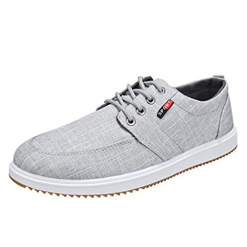 HULKAY Men's New Shoes Casual Large Size Handmade Loafers Shoes for Men(Gray 2,US:7/CN:39)
