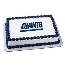 NFL New York Giants Logo Edible Cake Image Cake Topper