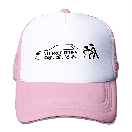 LKSJSADJ No Free Rides Gas Or Ass Adjustable Hats Pink
