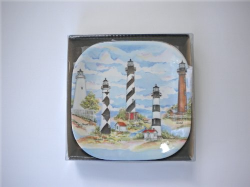 SBF Gifts Carolina Lighthouses Melamine Plastic Appetizer Tapas