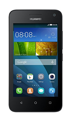Huawei Y3 Smartphone (4 Zoll) IPS-Display, 1,3 GHz-Quad-Core-Prozessor, 5 Megapixel-Kamera, 4 GB interner Speicher, Dual-SIM,  Android 4.4) schwarz