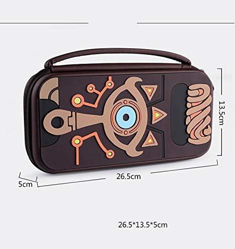 Funda de transporte compatible con Nintendo Switch Zelda, funda de silicona con cubierta dura con relieve Sheikah Slate Eye de viaje, estuche de viaje para Nintendo Switch Console y accesorios: Amazon.es: Videojuegos