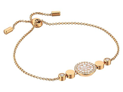 (Fossil Disc Mother-of-Pearl Bracelet, Rose Gold, One Size)