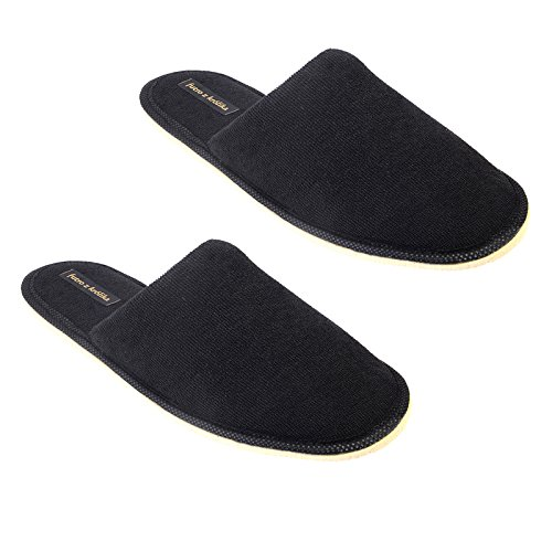 de87a5d1faac futro z królika 2 Pairs Carpet Slippers Black Colour Size 5.5 UK India