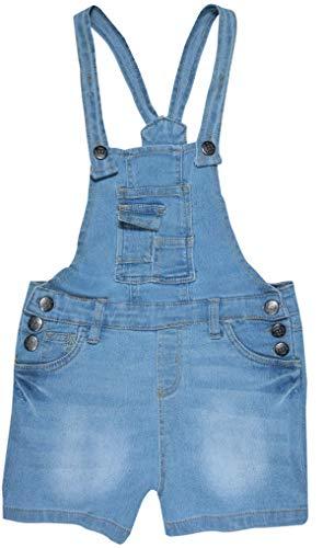 dELiAs Girls Bib Overall Denim Shorts with Adjustable Straps, Medium Blue, Size 12'