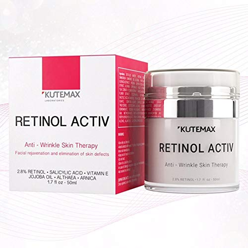 Retinol Night Cream - Anti-Age Formula - Reduces Wrinkles and Fine Lines - Special Mix of Organic Skincare Ingredients - 1.7 fl oz, 50 ml