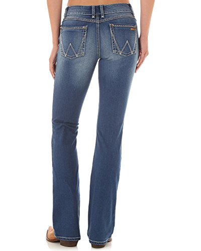 Wrangler Women's Retro Mae Mid- Rise Boot Cut Jeans (Wrangler Mid Rise)