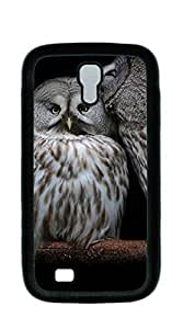 Design Hard Skin Case Cover Shell for Mobilephone case for samsung galaxy s4 - Charming owls protecting forest With High Grade Design L-NE CASE