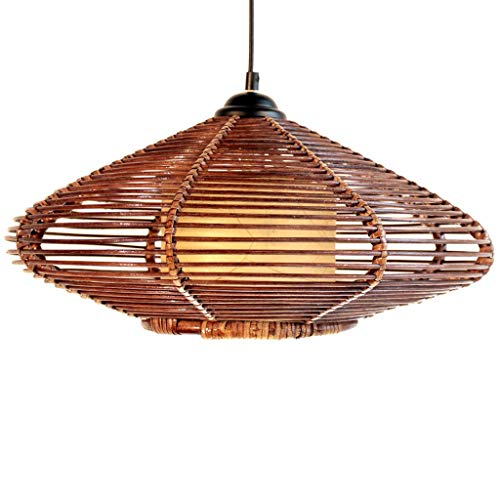 (CWJ Creative Decorative Chandelier -Oval Rattan Lamp True Rattan Weave Wine Kitchen Ceiling Lights Study Chandelier Exhibition Hall Rattan Lamp Home Dining Light Personality Living Room Lighting)