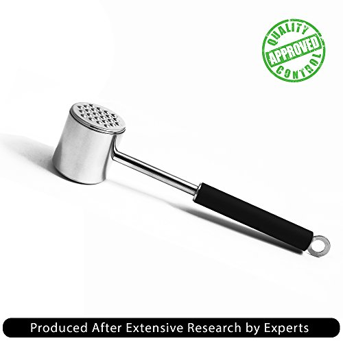 Kitchen Basix Stainless Steel Dual-Sided Meat Tenderizer Mallet/Hammer / Pounder by Kitchen Basix (Image #2)