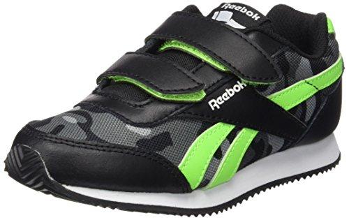 Reebok Jungen Royal Cljog 2gr 2v Laufschuhe Schwarz / Grün / Grau / Weiß (Schwarz / Solar Green / Aschgrau / Shark / Wht)