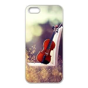 Custom iPhone 5,5S Case, Zyoux DIY Brand New iPhone 5,5S Case - Retro Series Guitar