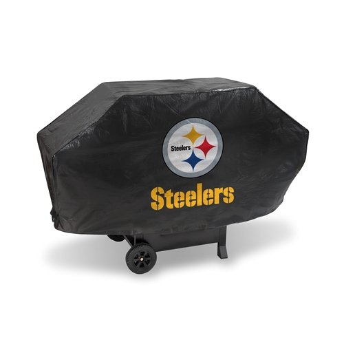 - Hall of Fame Memorabilia Pittsburgh Steelers Deluxe Grill Cover with Protective Lining