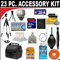 23 PC ULTIMATE SUPER SAVINGS DELUXE DB ROTH ACCESSORY KIT For The Jvc GC-WP10 Camcorder