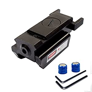 Twod Red Dot Laser Sight Scope 20mm Standard Weaver/Picatinny Rail for Pistol Gun Rifle