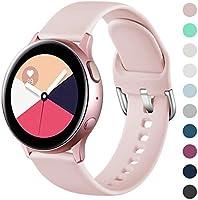 Wepro Armband Kompatibel mit Samsung Galaxy Watch Active/Active2 40mm/44mm, 20mm Weiche Silikon Ersatz Uhrenarmbänder...